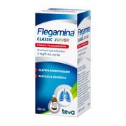 Flegamina Junior o smaku truskawkowym, 2 mg/5 ml, syrop , 200 ml