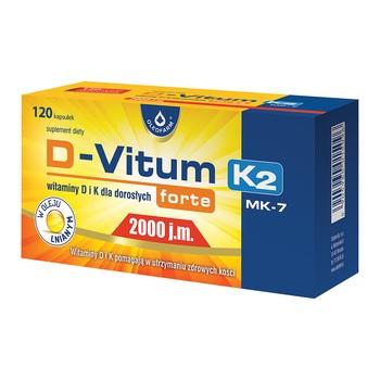 D-Vitum Forte 2000 j.m. K2, kapsułki,120 szt.