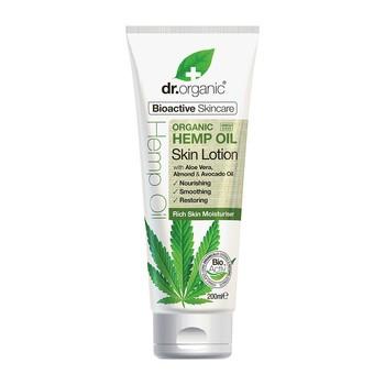 Dr.Organic Hemp Oil, balsam do ciała  z organicznym olejem  z konopi siewnych, 200 ml