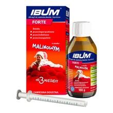 Ibum forte, 200 mg/5 ml, zawiesina doustna o smaku malinowym, 100 g