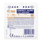 DOZ PRODUCT, kompresy jałowe z gazy bawełnianej, 17 nitkowej, 8 warstwowej, 5x5cm, 3 szt.