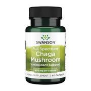 Swanson Full Spectrum Chaga Mushroom, kapsułki, 60 szt.