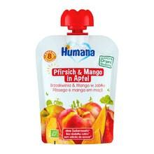 Humana 100% Organic, mus jabłko, brzoskwinia, mango, po 8 miesiącu, 90 g