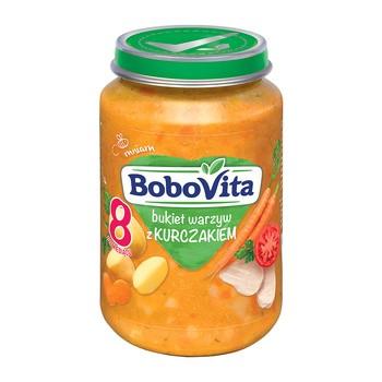 BoboVita, obiadek bukiet warzyw z kurczakiem, 8m+, 190 g