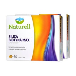 Zestaw 2x Naturell Silica Biotyna Max, tabletki, 60 szt.