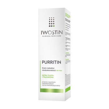Iwostin Purritin, krem reduktor niedoskonałości na noc, 40 ml