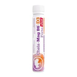 Olimp Chela-Mag B6+D3 Forte shot, płyn, smak wiśniowy, 25ml, 1 szt.