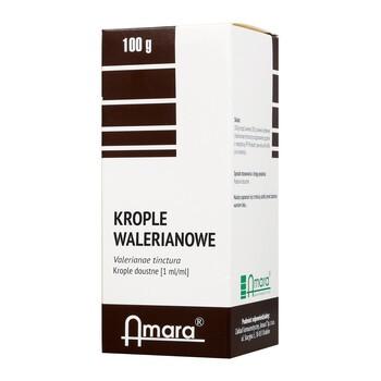Krople walerianowe, nalewka kozłkowa, 100 g (Amara)