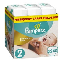 Pampers Premium Care, 2, (3-6 kg), 240 szt.