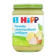 HiPP, potrawka z ziemniaczkami i królikiem, po 5. miesiącu, 190 g