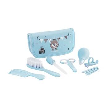 Zestaw akcesoriów do pielęgnacji dziecka, niebieski