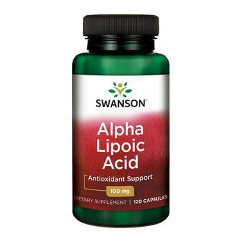 Swanson ALA kwas alfa liponowy 100 mg, kapsułki, 120 szt.