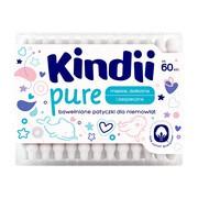 Kindii Pure, patyczki dla niemowląt, 60 szt.