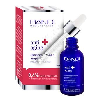 Bandi Medical Expert Anti-Aging, skoncentrowana ampułka przeciw zmarszczkom, 0,4% czysty retinol i witamina C, 30 ml