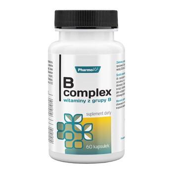 Pharmovit B complex, witaminy z grupy B, kapsułki, 60 szt.
