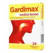 Gardimax medica lemon, 5 mg+1 mg, tabletki do ssania bez cukru, 24 szt.