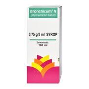 Bronchicum N, 0,75 g / 5 ml, syrop, 100 ml