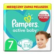 Pampers Active Baby 7, (15+ kg), pieluszki jednorazowe, 116 szt.