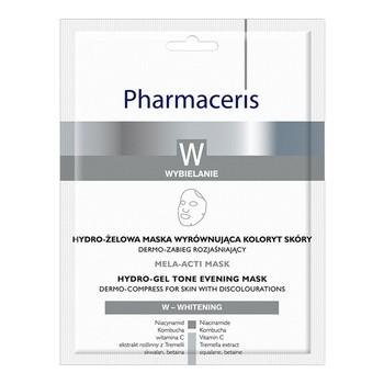 Pharmaceris W Mela-Acti Mask, hydro-żelowa maska wyrównująca koloryt skóry, 1 szt.