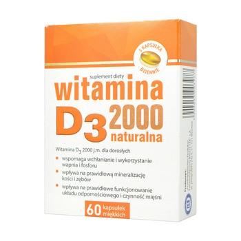 Witamina D3 2000, kapsułki miękkie, 60 szt.