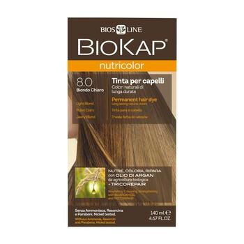 Biokap Nutricolor, farba do włosów, 8.0 jasny blond, 140 ml