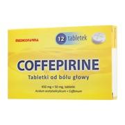 Coffepirine Tabletki od bólu głowy, 450mg + 50mg, tabletki, 12 szt.