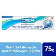 Corega, pasta 2w1 do mycia protez zębowych i zębów, miętowy smak, 1 szt.