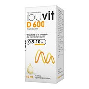 Ibuvit D 600, krople doustne, 10 ml