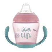 Canpol Sea Life, kubek niekapek z uchwytami, różowy, 230 ml