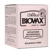 Biovax Glamour Pearl, Kolagen & Perły, intensywnie regenerująca maseczka do włosów, 125 ml