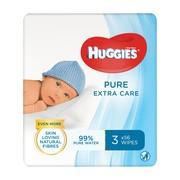 Huggies Pure, hipoalergiczne chusteczki nawilżane, bezzapachowe, (56x3)168 szt.