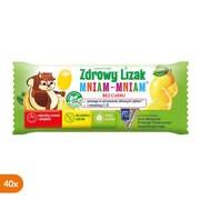 Zdrowy Lizak MniamMniam z witaminami C i D, smak cytrynowy, lizaki, 40 szt.