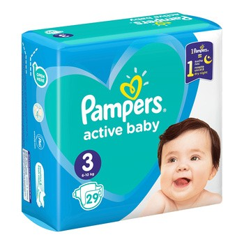 Pampers Active Baby 3, (6-10 kg),  29 szt.