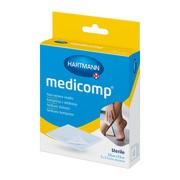 Medicomp, kompresy jałowe, włókninowe, 4 warstwowe, 7,5 x 7,5, 10 szt.