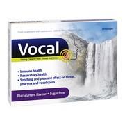 Vocal czarna porzeczka, pastylki do ssania, miękkie, 24 szt.
