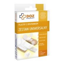 DOZ PRODUCT Plastry z opatrunkiem, zestaw uniwersalny, 24 szt.