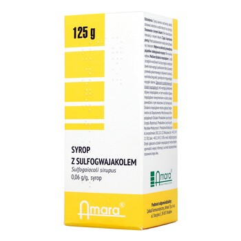 Sirupus Sulfoguaiacoli, syrop z sulfogwajakolem, syrop, 125 g