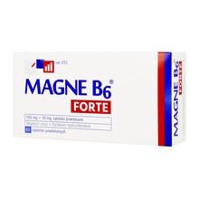 Magne B6 Forte, 100 mg+10 mg, tabletki powlekane, 60 szt.