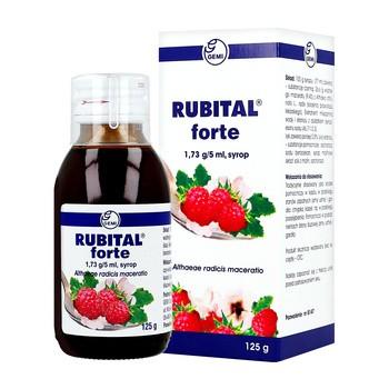 Rubital forte, 1,73 g/5 ml, syrop, 125 g