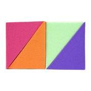 Donegal gąbki do makijażu, kolorowe trójkąty, 4 szt.