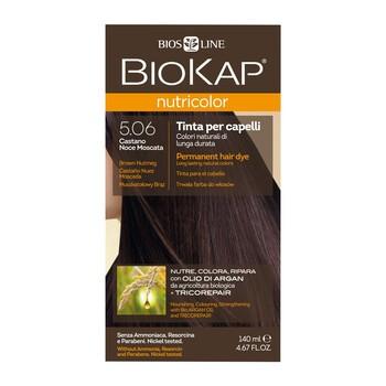 Biokap Nutricolor, farba do włosów, 5.06 muszkatołowy brąz, 140 ml