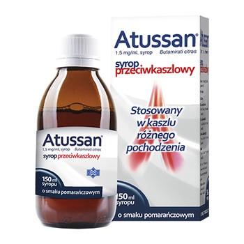 Atussan, 1,5 mg/ml, syrop o smaku pomarańczowym, 150 ml