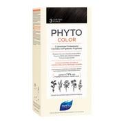 Phyto Color, farba do włosów, 3 ciemny kasztan, 1 opakowanie