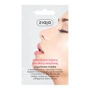 Ziaja Mikrobiom Balans, maska do twarzy dla skóry wrażliwej, 7ml (saszetka)