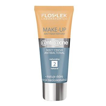 FlosLek Laboratorium Anti Acne, podkład, make-up antybakteryjny, naturalny (2), 30 ml
