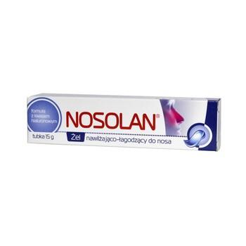Nosolan, żel nawilżająco-łagodzący do nosa, 15 g