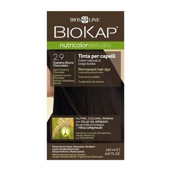 Biokap Nutricolor Delicato, farba do włosów, 2.9 ciemny czekoladowy kasztan, 140 ml