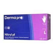Derma Pro, rękawice diagnostyczne, nitrylowe, niejałowe, bezpudrowe, rozmiar L, 100 szt.