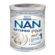 Nestle Nan Optipro Plus 1 HM-O, mleko początkowe dla niemowląt od urodzenia, 800 g