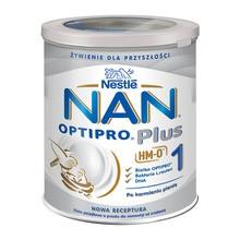 Nestle Nan Optipro Plus 1 HM-O, mleko początkowe dla niemowląt od urodzenia 800 g